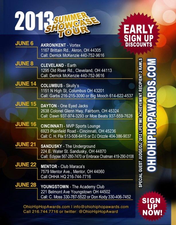 Official OHHA 2013 Showcase Tour Flyer